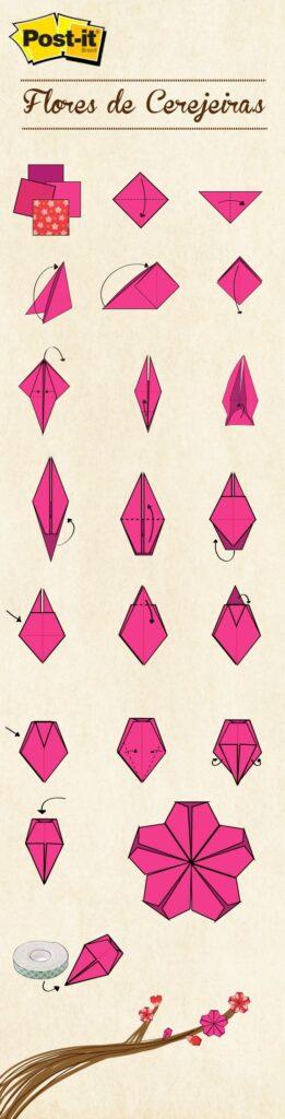 origami flor cerejeira