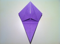 origami flor de iris alunos