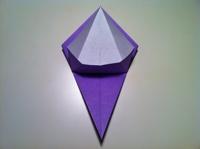 origami flor de iris aprender