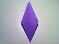 origami flor de iris dobradura