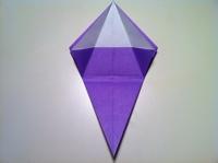 origami flor de iris dobrando