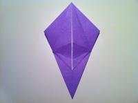 origami flor de iris fácil