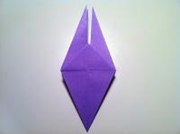 origami flor de iris fazendo