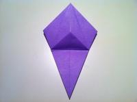 origami flor de iris flores