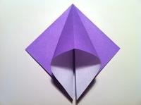origami flor de iris papel