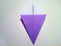 origami flor de iris passo a passo