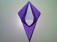 origami flor de iris simples