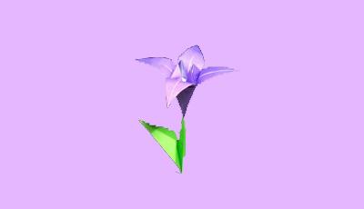origami flor de iris