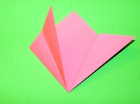 origami flor simples