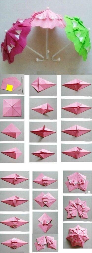 origami guarda chuva