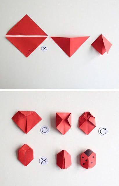 origami joaninha