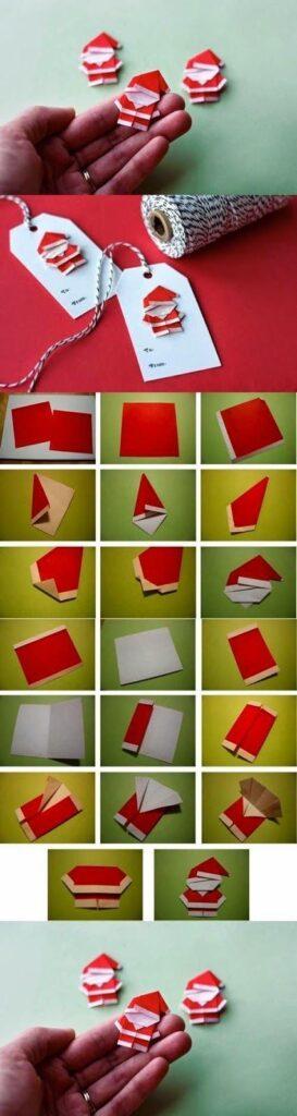 origami papai noel