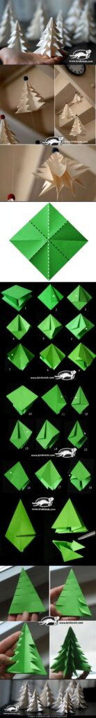origami pinheiro