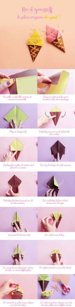 origami sorvete