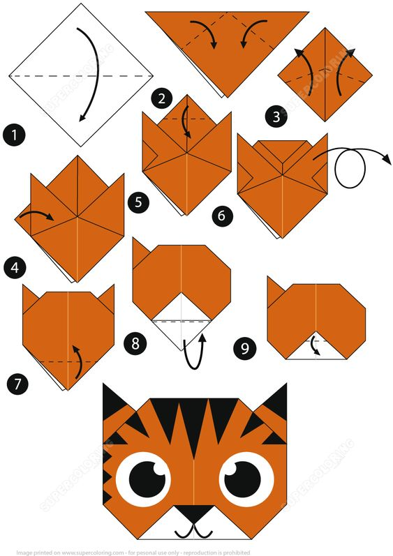 origami tigre