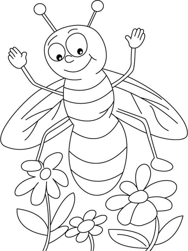 desenhos de abelha alegre