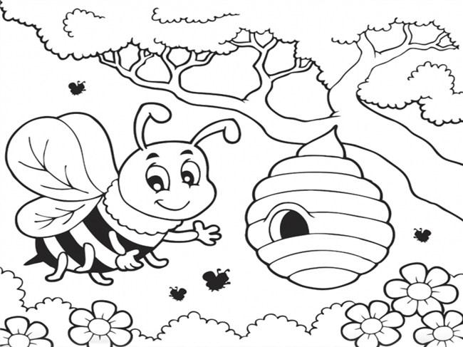 desenhos de abelha colmeia